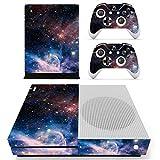 Stillshine Xbox One S selbstklebend Konsole Vinyl Skin Decal Sticker & 2selbstklebend Controller & 1selbstklebend Kinect Set blau Starry Blue-Red