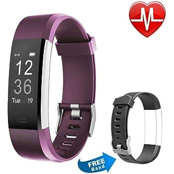 Proze Pulsera Actividad Band+ Pulsera Inteligente con Pulsómetro Deportiva Fitness Tracker y Monitor de Ritmo Cardíaco