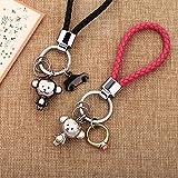 PLL Ornamenti svegli del fumetto del cerchio della catena della catena chiave della scimmia delle coppie creative