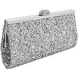 UNYU Evening Bag, Damen Clutch Gr. Einheitsgröße, silber