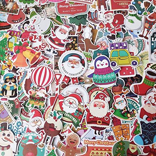 Frohe Weihnachten Aufkleber 134 Stück, Simatic Weihnachten Aufkleber Dekoration für Haus, Kinder, Familientreffen, Party Supply Graffiti Vinyl Aufkleber Patches wasserdicht