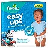 Pampers Easy Ups Trainingshose zum Anziehen, Einwegwindeln für Jungen, Größe 4 (2T-3T), 26 Count, Jumbo.
