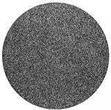 Rasenteppich Kunstrasen mit Noppen Anthrazit rund nach Maß - 1.550 g/m² versandkostenfrei schadstoffgeprüft pflegeleicht antistatisch schmutzresistent robust strapazierfähig Balkon Terrasse Camping , Größe Auswählen:200 cm rund