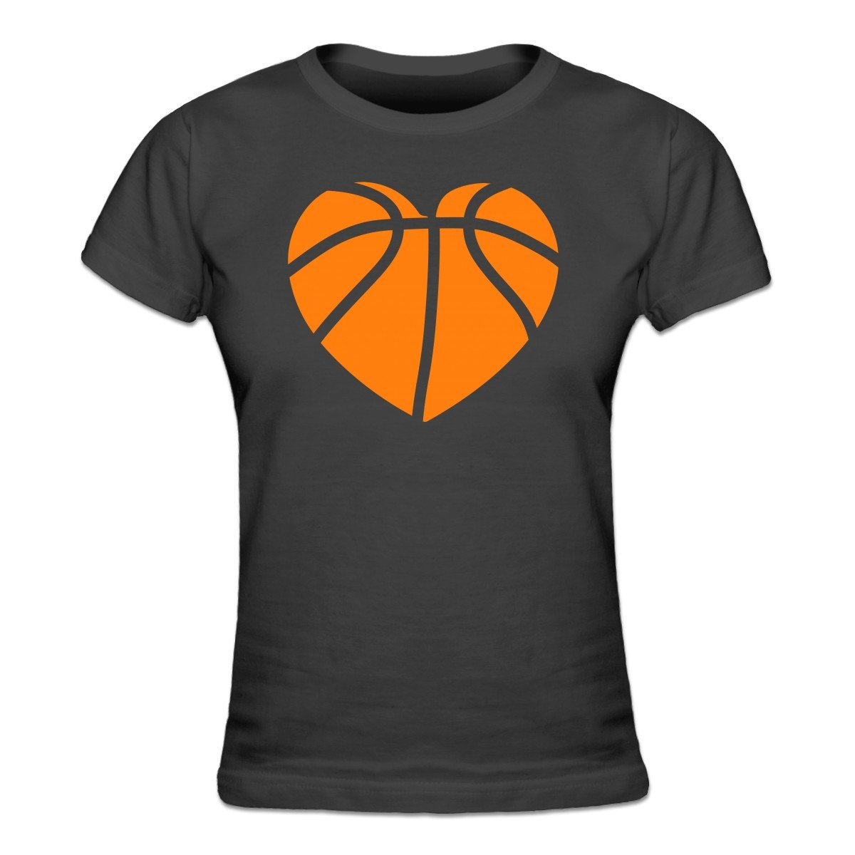 Basketball heart womens t shirt by shirtcity amazon clothing sciox Gallery
