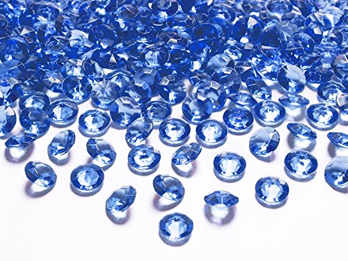 Schnooridoo 500 Diamanten Dunkelblau 12mm Tischdekoration Streuartikel Hochzeit Taufe Konfirmation Event Deko