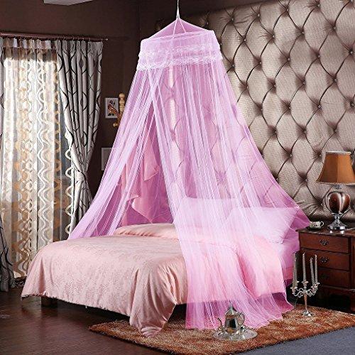 Unimall Moskitonetz Mückennetz Fliegennetz Baldachin Himmel Rosa