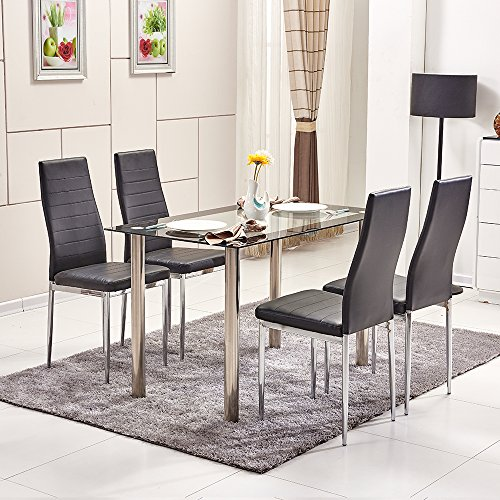 ospi-clear-with-black-trim-tempered-glass-dinner-table-4-leather-cover-chairs-sets-white-color-power