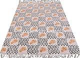 Trade Star Exporte 4x6 Ft indische Hand Block Print Teppich, Handloomed Dhurrie, Wurf Läufer Teppich, dekorative große Teppich für Wohnzimmer, handgemachte Bodenmatte (Muster 10)