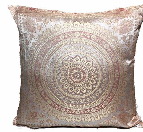 GANESHAM Handwerk-Hippie Home Decor Sofa und Couch Indischen Ethnischen Design Room Decor Mandala Überwurf Kissen Fall 40X 40cm