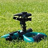 Arroseur Oasis Ahead K-200 Avec Gicleur à Pulsations de Grande Portée Pour Un Arrosage à 360° de Votre Jardin, Valve d'Arrêt, et Base Lestée de Métal et Tête de Gicleur Supplémentaire