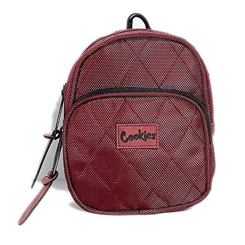 Cookies SF Berner Men's V2 1680 Quilted Nylon Mini Smell Proof Pack Bag Maroon
