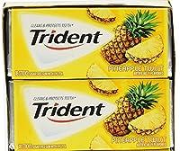 Trident Pineapple Twist Sugar Free Gum, 18 Sticks (Pack of 2)