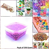 #4: Supermall New Crystal Mud Soil Water Beads Jelly Gel Ball Flower Plant Decor Best Quality (Pack oF 250 Gram) With Plastic Transparent jelly Ball's Storage