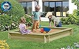 Sandkasten Werner 150 x 150 x 25cm, mit Abdeckung blau, Sandkiste, Buddelkiste, Sandbox, Spielkasten von Gartenwelt Riegelsberger