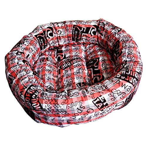 Pet Bett Baumwolle warme Zwinger Runde Pet Nest super warm super weich Hund Sänfte,Red,S