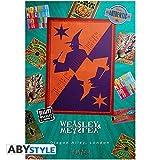 Poster Harry Potter - Weasley's Wizard Wheezes (68cm x 98cm) + 2 tringles noires avec suspension