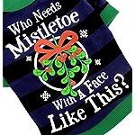 smalllee_lucky_store Pet Clothes for Small Dog Cat 100% Cotton Mistletoe Print Shirt T-shirt Striped Blue Black L 61JTUTRMwXL