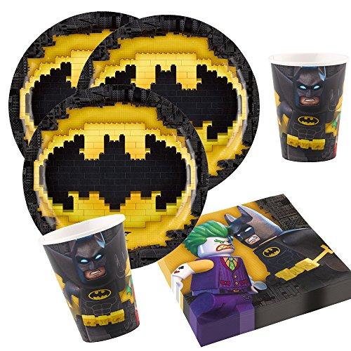 Preisvergleich Produktbild 36-teiliges Party-Set Lego Batman - Teller Becher Servietten für 8 Kinder