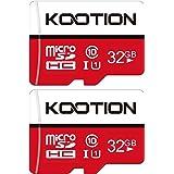 Kootion Micro SD Karte 32GB Speicherkarte MicroSDHC Class 10 Mini SD Karte UHS-I U1 A1 Memory Cards 2er Pack Speicher SD Kart