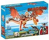 Cómo entrenar a tu Dragón- Snotlout and Hookfang Garfios y patán mocoso, (Playmobil 9459)