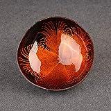 Kokosnuss-Schale – 100% natürlich, schön, langlebig, Kokosnussschalen, einzigartige handgefertigte Kokosnuss-Schüssel, Home Desktop Ornamente Dekoration, Candy Küche Decor, Orange, Free Size