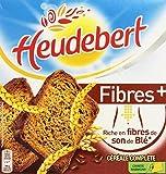 Heudebert Biscottes Fibres + Céréales Complètes 2 Sachets Fraîcheur de 16 Tranches 280 g