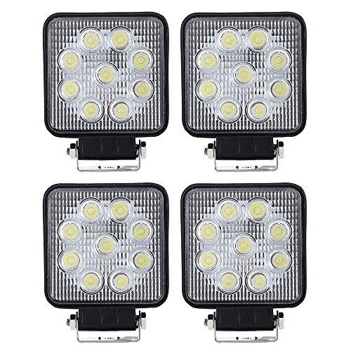 VINGO® 4X 27W Arbeitsscheinwerfer LED 12v Arbeitslicht Auto Scheinwerfer Lampe 6500K Weiß Für Trecker Offroad KFZ Bagger SUV -
