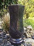 Granitvase kompakt 26cm x 12cm Granitvase Orion (dunkel) Friedhofsvase Granit Grabvase Granit Orion-dunkel