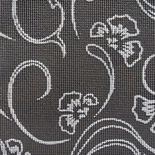 casa pura® Gartentischdecke Iris | Dunkelgrau mit hellem Blumenmuster | Weichschaum Tischdecke für Garten und Balkon | rechteckig 130 cm x 160 cm
