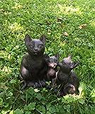 Antikas - Katzen Familie, niedliche Kätzchen, Dekoration Haustür, dekorative Tierfiguren