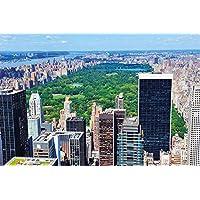 Nueva York Central Park Papel pintado de fotografía – Manhattan decoración de la pared –XXL cartel Central Park en Nueva York - decoración de la pared by GREAT ART (140 x 100 cm)