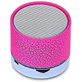 Heypex DO-261 Colorful LED Light Crack Pattern Mini Stereo Portable Wireless Bluetooth Speaker With SD Card Slot Compatible With All Smartphone Device (Assorted Colour)