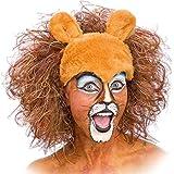 León de la peluca para adultos de peluche Safari Tiger