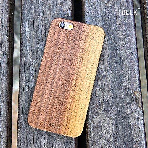 "iPhone 6 Plus Fall, iPhone 6 Plus Hard Case, BELK 2. Gene ""FLEX Edge"" Series Soft Gel-seitig [Einfache Snap-On] Laub Fälle mit Durable Verstärkte PC-Hybrid Back for iPhone 6 Plus - 5,5 Zoll, Bambus 1-walnut"