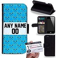Case88 [Apple iPhone 5 / 5s] Custodia in PU Pelle, Supporto Stand e Porta Carte Integrati Portafoglio Flip Cover - Personalizzata Sports Design Boys Lacrosse DSE0194