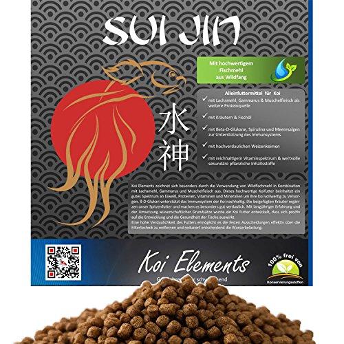 SUI JIN Teichprodukte 10kg Koi Elements Premium Koifutter Kräuter für Koi Futter
