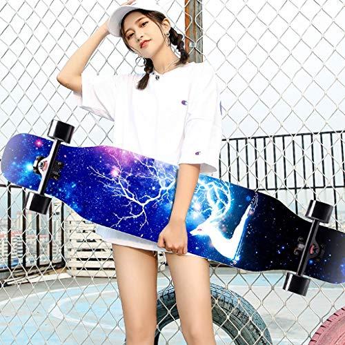 DUWEN Skateboard Principiante Maple Longboard Niños y niñas Profesional Skateboard Adolescentes Cepillo Street Dance Board Scooter de Cuatro Ruedas (Color : G)