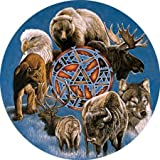 """Spirit of the Animals 300 pc Round Large Format by """"SERENDIPITY PUZZLE CO., INC."""""""