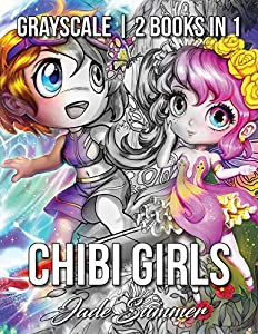 Chibi Girls Grayscale: An Adult