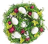 Britesta Türkranz: Osterkranz mit Ostereiern und roten Früchten, Ø 23 cm (Oster Dekokränze)