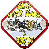 Placa bebé a bordo fan de Star Wars a bordo