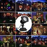 Projecteur Décoration, Leeron Lampe de Projecteur avec 12 Dessins Atmosphère Ambiance Idéal Etanche Résistant à l'Eau IP 65 pour Saint-Valentin Toussaint Halloween Poisson d'Avril etc