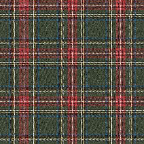 Schottisches Karo-muster (rasch Tapete 861730 aus der Kollektion b.b home passion VI - Karierte Vliestapete im schottischen Stil - Dunkelgrün, Rot, Gelb, Blau & Silber - 10,05m x 53cm (L x B))