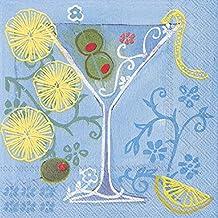 Idéal à domicile Gamme 3couches de 20serviettes en papier pour cocktail de fruits, Martini