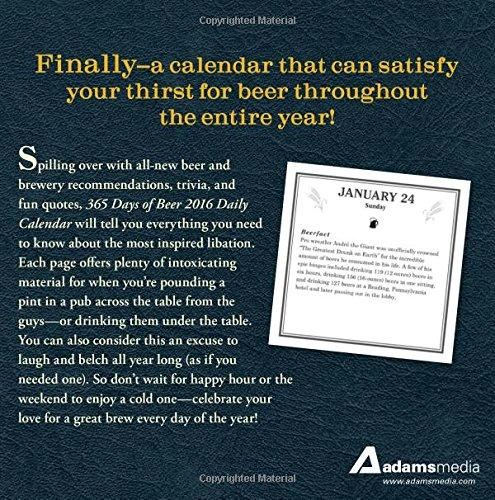 365 Days of Beer 2016 Daily Calendar (Calendars 2016)