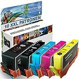 Premium 10er Set Kompatible Tintenpatronen Als Ersatz für HP 364 XL phbk Multipack mit Chip und Füllstand für OfficeJet 7515 PhotoSmart B109A B8550 PhotoSmart e-All-in-One 7510 7520 10x364-hpphotoblack