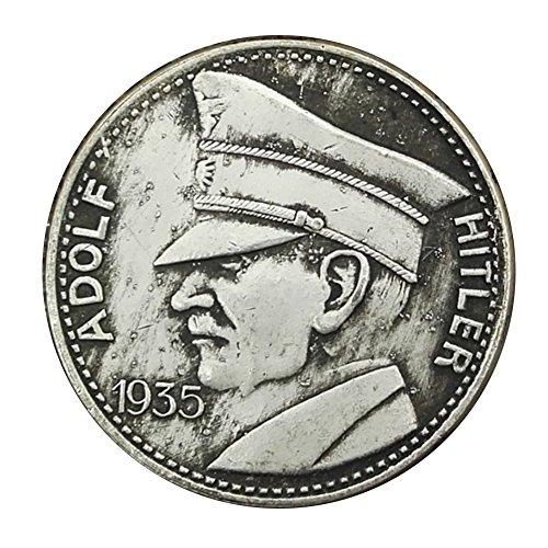 Eqerlian Silber Dollar Silbermünze Sammlung Weiß Kupfer Silbermünze Deutschland 1935 Münze -