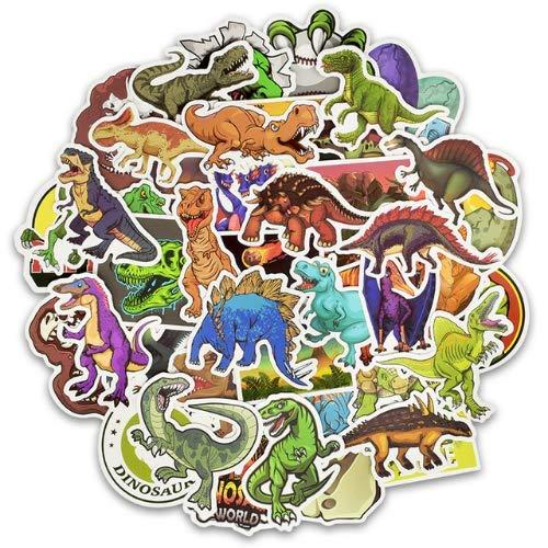 zwuszw Dinosaurier Aufkleber Spielzeug für Kinder Tier Lustige Aufkleber Aufkleber Dekoration Jurassic Park zu DIY Laptop Skateboard Koffer 50 stücke