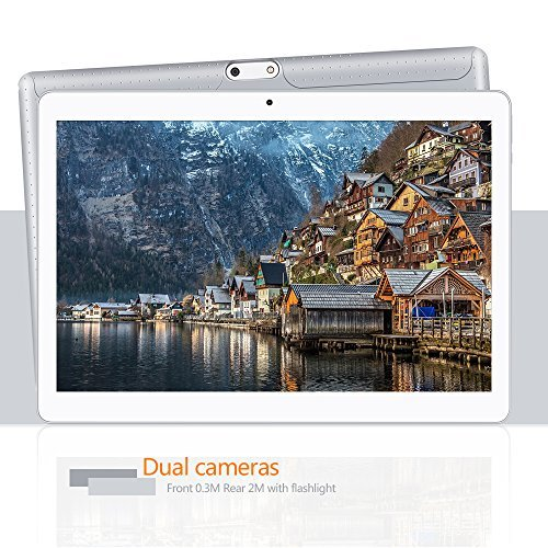YUNTAB Tablet 10.1 Zoll Tablet Pc – 3G – Android 5.1 Lollipop – QUAD CORE-Telefonieren – GPS- Navigation – 1GB RAM – 16GB – Dual Kamera( Real Kamera 2 Mps) – Battery 5000 mhA – Bluetooth 4.0 (MSilber) - 4