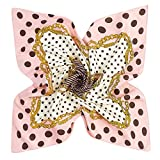 DAMILY Femmes Vintage Polka Dot Bandana Écharpe Twill Soie Tête Wrap Mode  Carré FoulardS 60   75779a87888